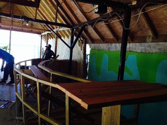 Secrets Cabins on Negril Beach : New bar getting built