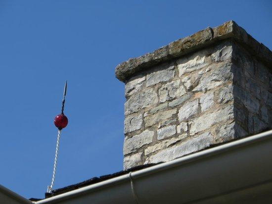 Lyndon B. Johnson National Historical Park : Lightning rod on the boyhood home in Johnson City