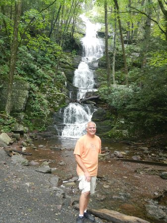 Delaware Water Gap National Recreation Area: Posing at base of Buttermilk Falls