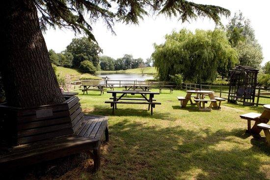 Alvanley Arms Inn: Beer garden