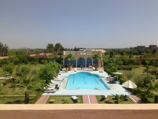 Riad Qodwa: Riad garden and pool area