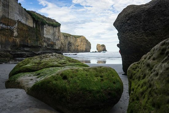 Tunnel Beach Track: Tunnel Beach - die Flut kommt - NZ 2014