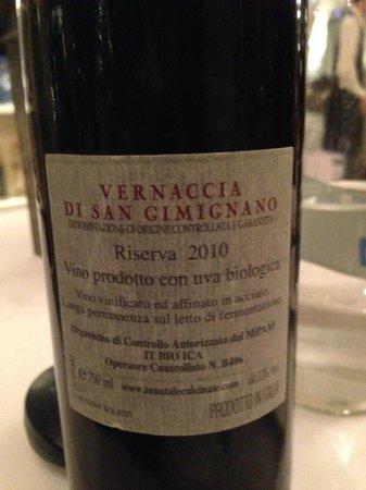 Ristorante Mediterraneo : Der Weißwein den wir zum Dinner hatten war vorzüglich