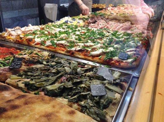 Pizzarium Bonci : Lots of interesting toppings