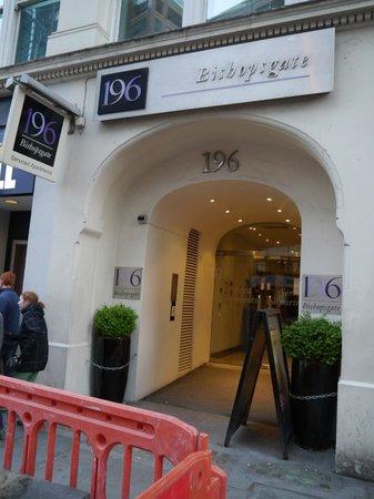 196 Bishopsgate : Eingang