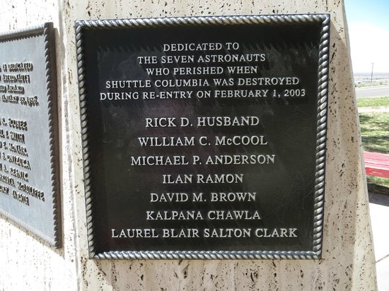 New Mexico Museum of Space History: Lost Astronauts Memorial Plaque
