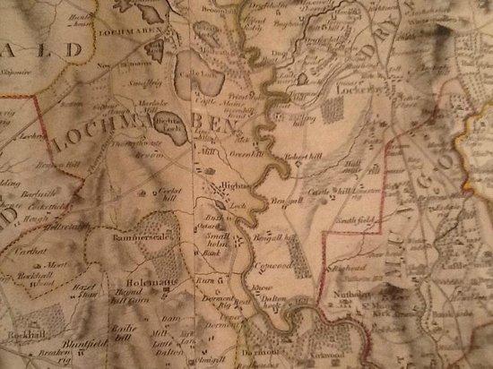 The Hightae Inn : 1804 William Crawford map