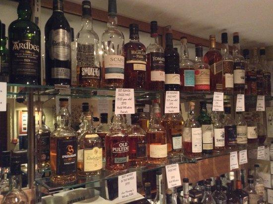 The Hightae Inn: Whiskies