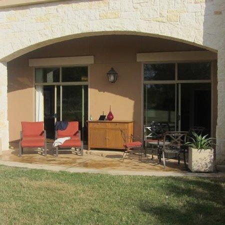 JW Marriott San Antonio Hill Country Resort & Spa: Our patio