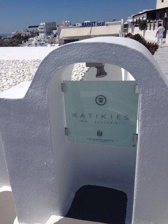 Katikies Hotel : Entrada