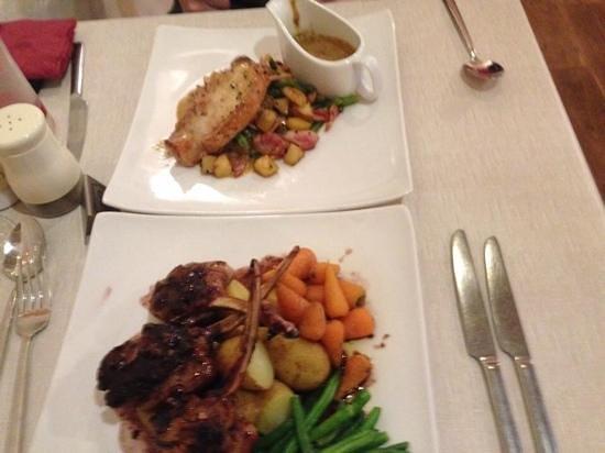 Coach & Horses Inn: pork and lamb dish, yum yum