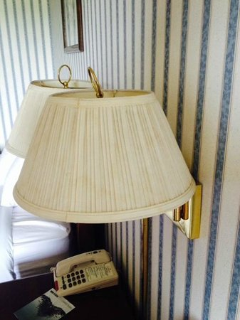 Ramada Morgantown Hotel & Conference Center: discolored/water-stained lampshade
