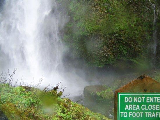 Cataratas Multnomah: As far as you can go on the Multnomah Falls trail