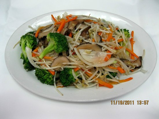 Noodle House: CHINESE MUSHROOM ,BROCCOLI & BEANSPOUT