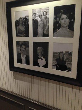Hôtel Barrière Le Majestic Cannes: Фотографии звезд, останавливавшихся на нашем 6 этаже