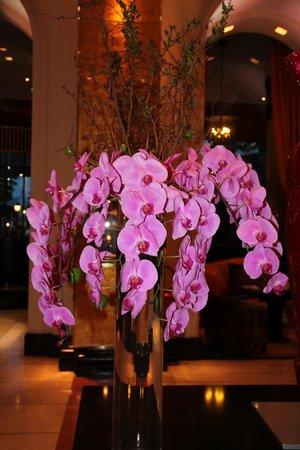 Hotel Barriere Le Majestic Cannes: Цветы в холле отеля
