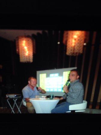 Kaya Palazzo Golf Resort: Funny man so welcoming  fun deal or no deal in cigar bar