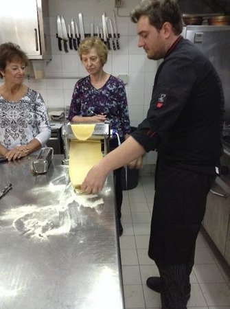 El Jebel Hotel: A class on pasta making with the chef from Ciampoli.