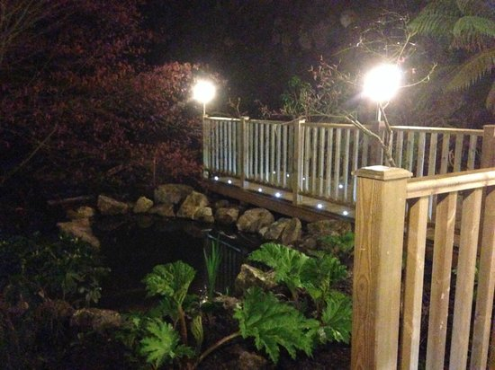 The Waterwheel Inn: One of several ponds