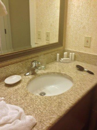 Residence Inn Cleveland Downtown : bathroom vanity downstairs