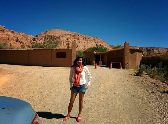 Alto Atacama Desert Lodge & Spa: In front of the hotel entrance - hard to find, but worth it