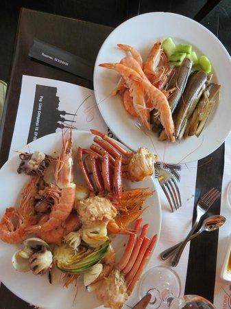 Restaurante Japones Wok Arc de Triomf: some sea food