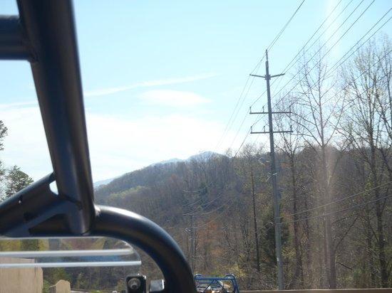 Smoky Mountain Adventures: Riding down the road....