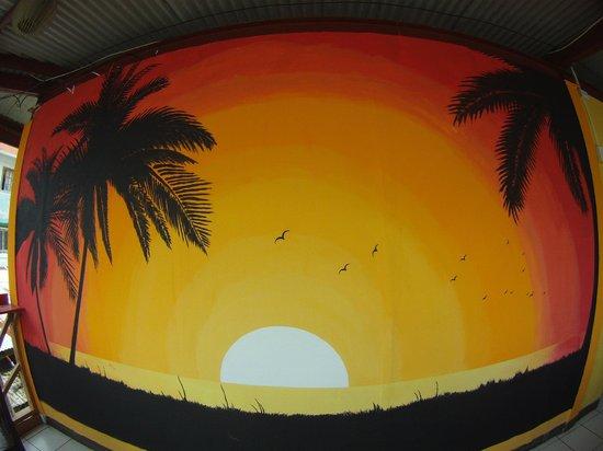 Hostal Caribbean Lodge: Terrace
