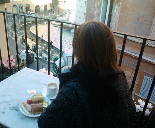Relais Fontana Di Trevi: Vista do terraço no café da manhã