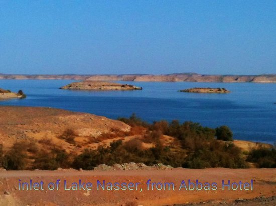 Abu Simbel Tourist Village /Hotel Abbas : view from the private areas at the top of the steps from the courtyard