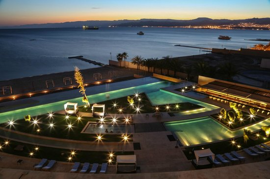 Kempinski Hotel Aqaba Red Sea: sunset from room