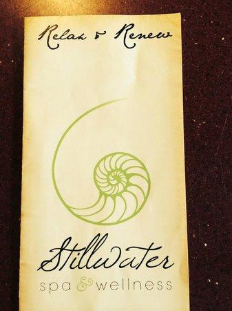 Stillwater Spa & Wellness: brochure for Stillwater Spa