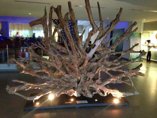 Riande Aeropuerto : Beautiful tree decoration at the lobby.