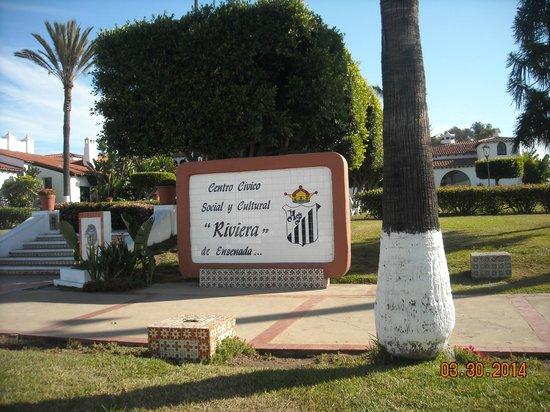 Cultural Center of Ensenada: The sign to the Center