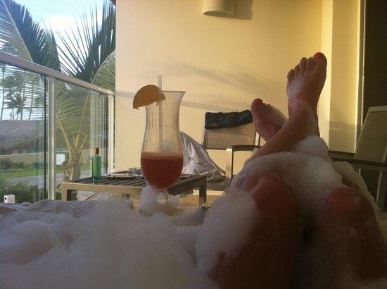 Breathless Punta Cana Resort & Spa : sur le balcon de ma chambre