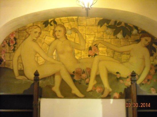 Cultural Center of Ensenada : One of the murals inside the Center