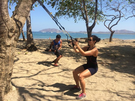 Nick Holt Fitness: Morning TRX workout at the Beach!