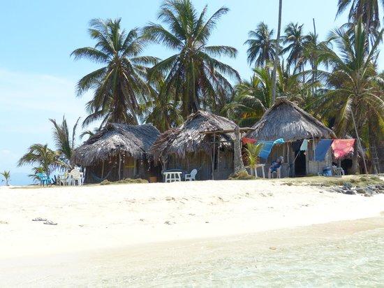 Cabanas Coco Blanco: die 3 schönen Cabanas in 1. Reihe