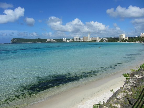 Pacific Star Resort & Spa: The Beach and Tumon Bay to the North