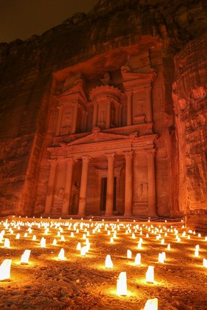 Petra By Night : Treasury by candlelight