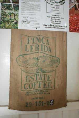 Finca Lerida Activities: Finca Lerida coffee bags