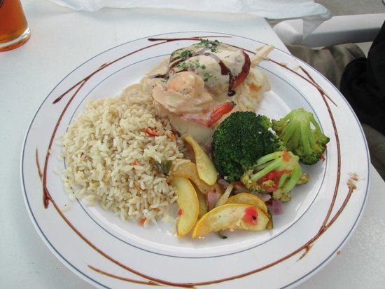 Island Grill: Stuffed fish from the specials