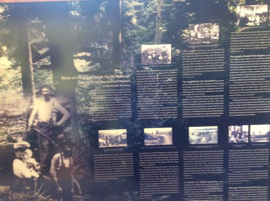 Museum of Northern British Columbia : A display discussing part of Prince Rupert's history