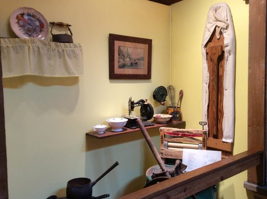 Museum of Northern British Columbia : A display of some of the items of early Prince Rupert