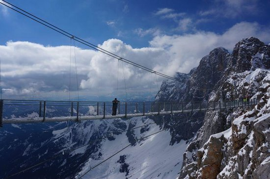 Ramsau am Dachstein, Österrike: The bridge