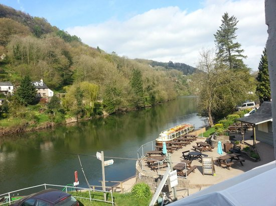 The Saracens Head Inn: View upstream from room 8