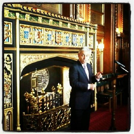 Palais de Westminster : Fire place at the Speakers Residence