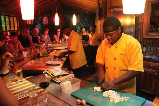 Zimbali's Mountain Cooking Studio: The culinary geniuses at work!