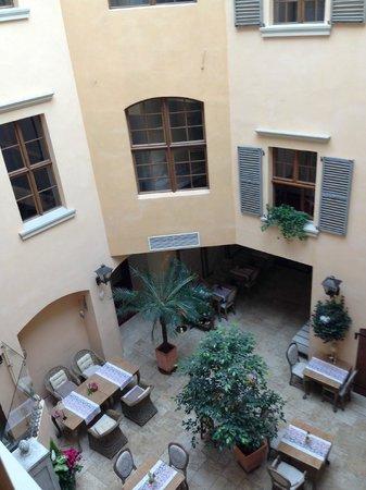 Hotel Kolegiacki: view from the window - patio