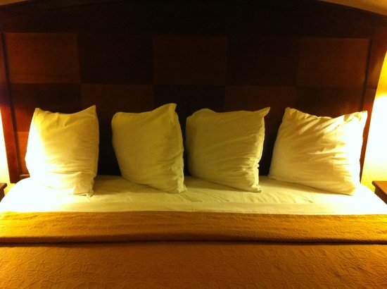 Quality Inn San Simeon: small cushions serve as pillows